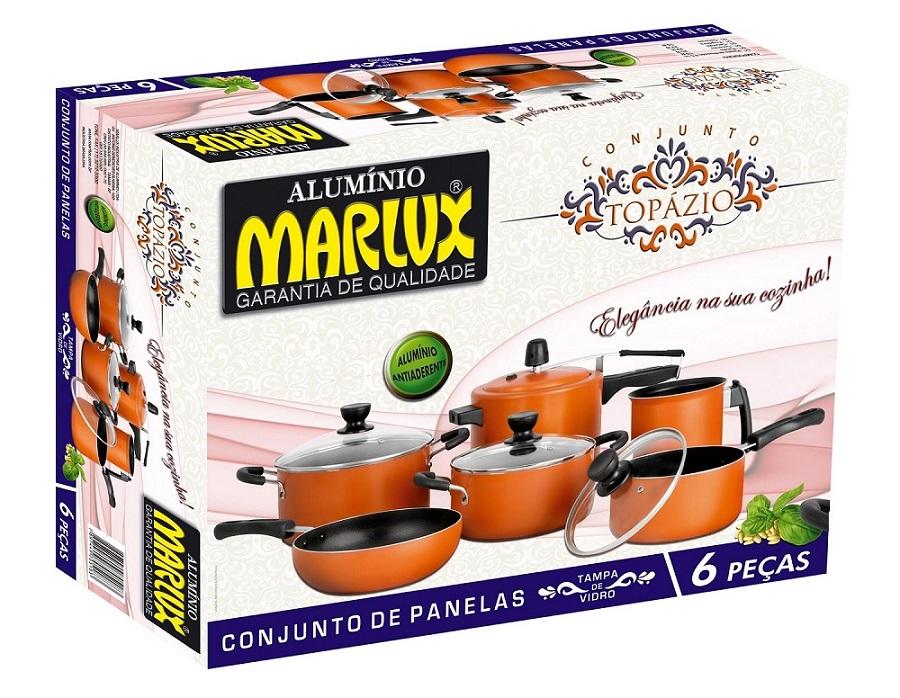 Jogo de Panelas 6 Peças Antiaderente Topázio - Marlux  - ShopNoroeste.com.br