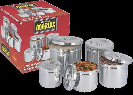 Jogo de Potes para Mantimentos 5 peças - Marlux  - ShopNoroeste.com.br