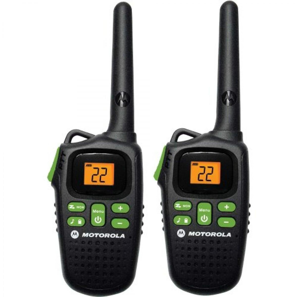 Radio Comunicador Motorola 32 KM Par MD200 MR Preto  - ShopNoroeste.com.br