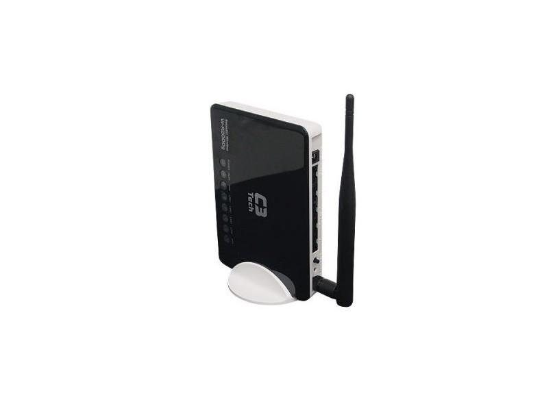 Roteador C3 Tech Antena Destacável Wireless  802.11B/G/N 150MBPS W-R2000NL Router + AP + Repetidor  - ShopNoroeste.com.br