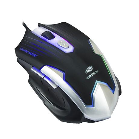 Mouse Gamer Óptico USB 6 Botões MG-11BSI 2400DPI - C3 Tech  - ShopNoroeste.com.br
