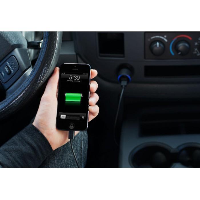Carregador Veicular para iPhone 5 - 2 Usb Belkin F8J071bt04-BLK  - ShopNoroeste.com.br