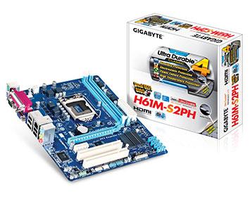 Placa Mãe Gigabyte Core i3/i5/i7 LGA1155 A - GA-H61M-S2PH 1.0  - ShopNoroeste.com.br