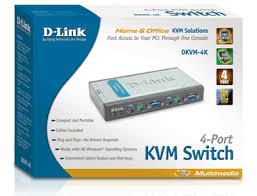 Chaveador KVM 4 Portas USB c/ 2 Cabos D-Link DKVM-4U  - ShopNoroeste.com.br
