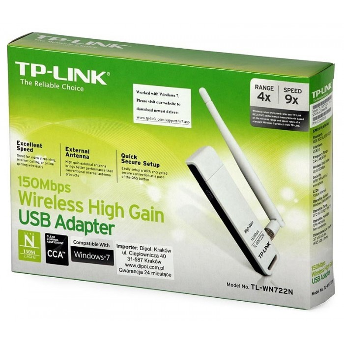 Adaptador Tp-Link Wireless USB 150Mbps TL-WN722N  - ShopNoroeste.com.br