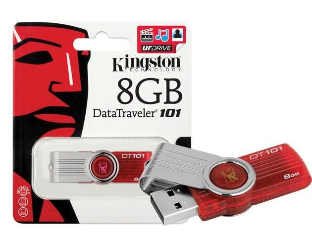 Pen Drive Kingston DataTraveler DT101G2 8GB  - ShopNoroeste.com.br