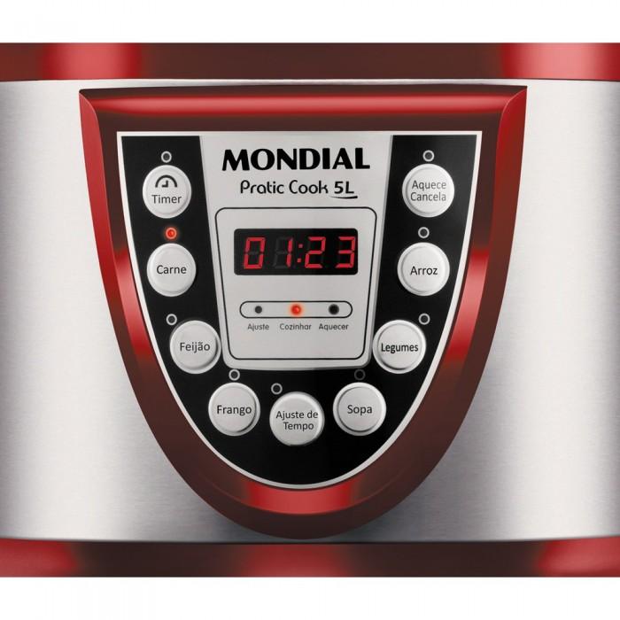 Panela de Pressão Elétrica Pratic Cook 5Litros PE-12 127V - Mondial  - ShopNoroeste.com.br