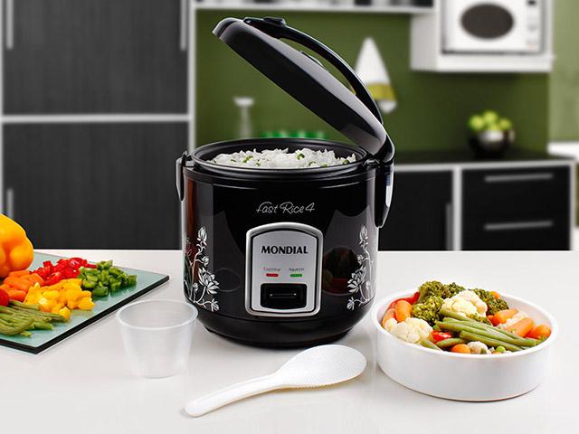 Panela Elétrica de Arroz Fast Rice 4 127V PE-08 - Mondial  - ShopNoroeste.com.br
