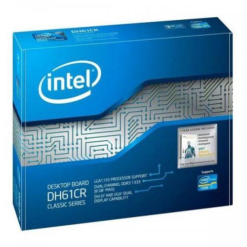 Placa Mãe Intel P/ Intel LGA1155 DVI DDR3 - BOXDH61CRBR  - ShopNoroeste.com.br