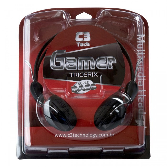 Headphone C3 Tech Gamer Tricerix MI-2280  - ShopNoroeste.com.br