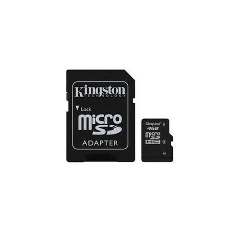 Cartão de Memória Kingston SDC4/4GB 4GB Micro SD  - ShopNoroeste.com.br