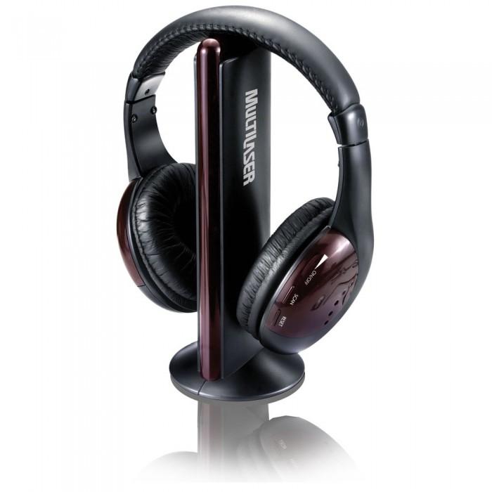 Fone de Ouvido sem fio, 5 em 1, com Rádio FM, RCA ou P2, Preto - PH036 - Multilaser  - ShopNoroeste.com.br