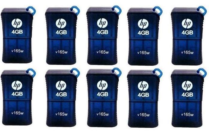 Pen Drive 4GB HP V165W  - ShopNoroeste.com.br