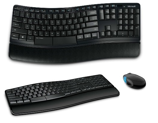 Kit Microsoft Teclado e mouse Wireless Confort Sculpt L3V-00005  - ShopNoroeste.com.br