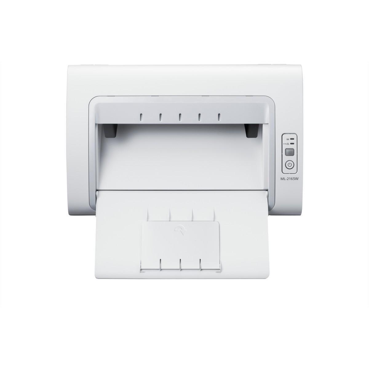 Impressora Laser Samsung Monocromática Wireless ML-2165W Resolução 1200x1200 dpi 20ppm 10000 Pag/Mês USB Branca  - ShopNoroeste.com.br