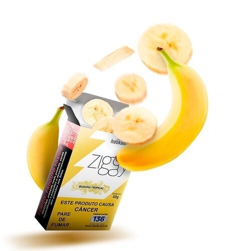 Essência Narguile Ziggy Banana Tropical 50g  - ShopNoroeste.com.br