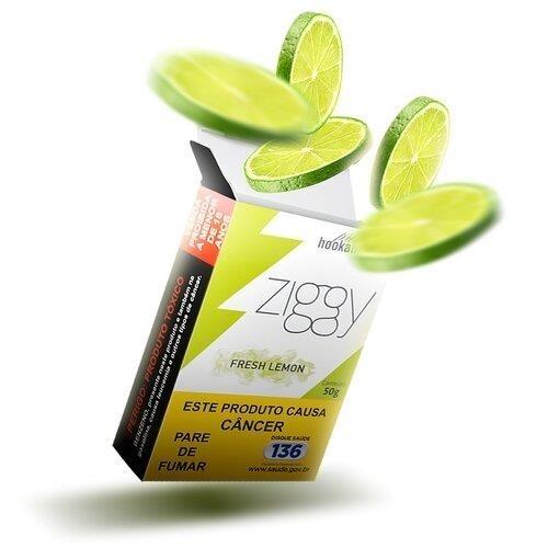 Essência Narguile Ziggy Fresh Lemon 50g  - ShopNoroeste.com.br