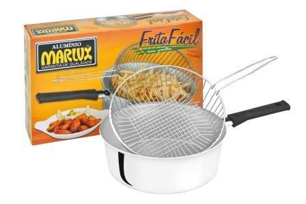 Frigideira Frita Fácil 23 cm 3L Grelha Removível  - Marlux  - ShopNoroeste.com.br