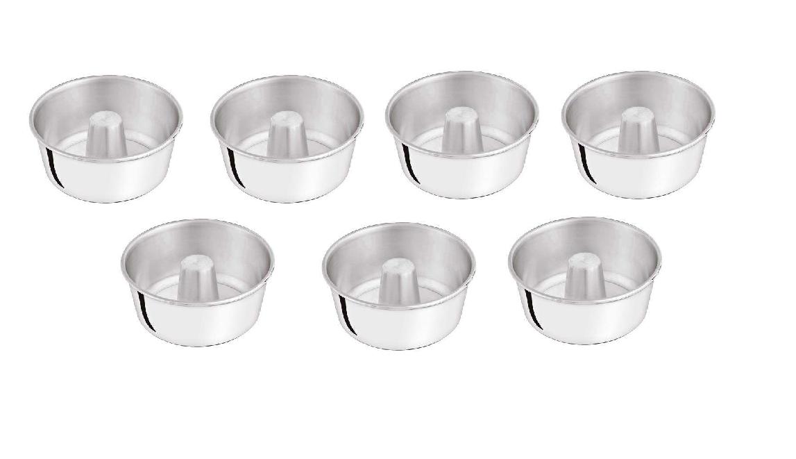 Kit Formas de Pudim Alumínio Marlux 7 Peças 12cm, 14cm, 16cm, 18cm, 20cm, 22cm, 24cm Polida  - ShopNoroeste.com.br