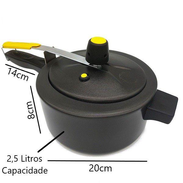 Panela de Pressão 2 Litros e Meio Marlux Antiaderente  - ShopNoroeste.com.br