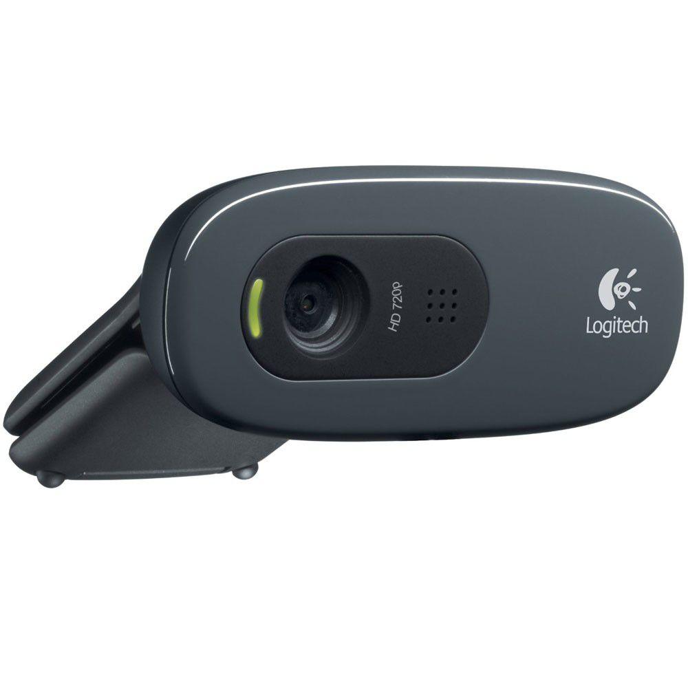 Webcam Logitech USB 3 MegaPixels Plug e Play HD 720P C270  - ShopNoroeste.com.br