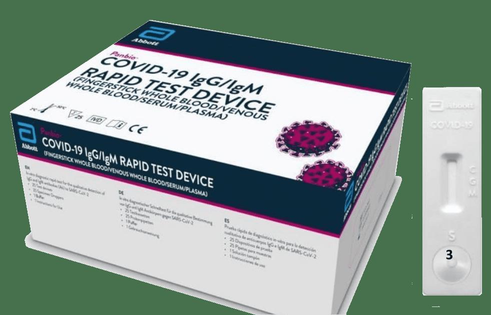 Covid-19 igG/igM Teste Rápido - Abbott Panbio  - Master Diagnóstica
