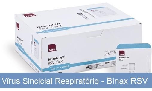 Vírus Sincicial Respiratório - Binax RSV  - Master Diagnóstica
