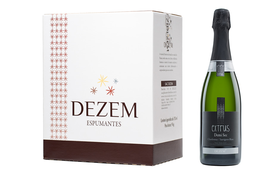 Extrus Espumante Demi-Sec - 750ml - Caixa c/6 unid  - Vinicola Dezem