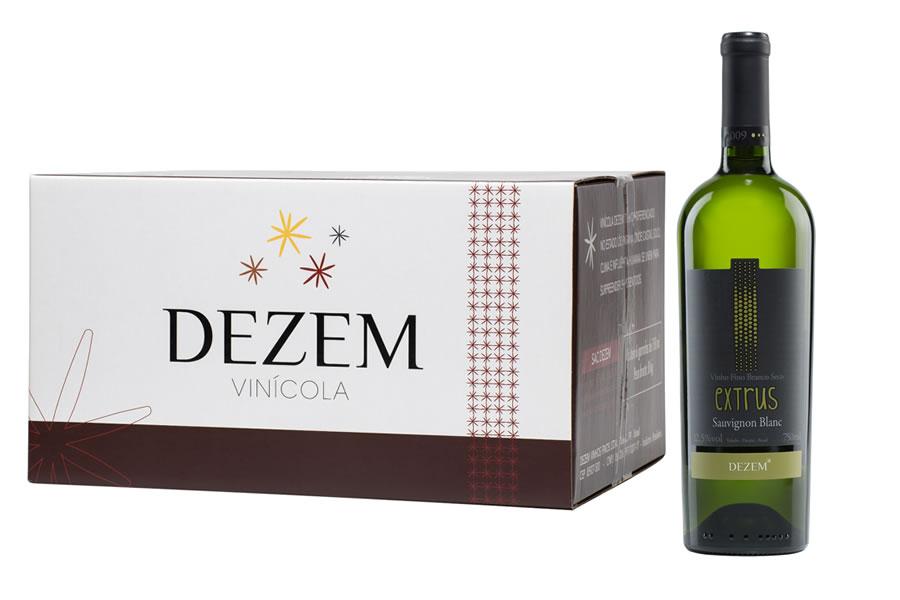 Extrus Sauvignon Blanc 2009 - 750ml - Caixa c/6 unid  - Vinicola Dezem