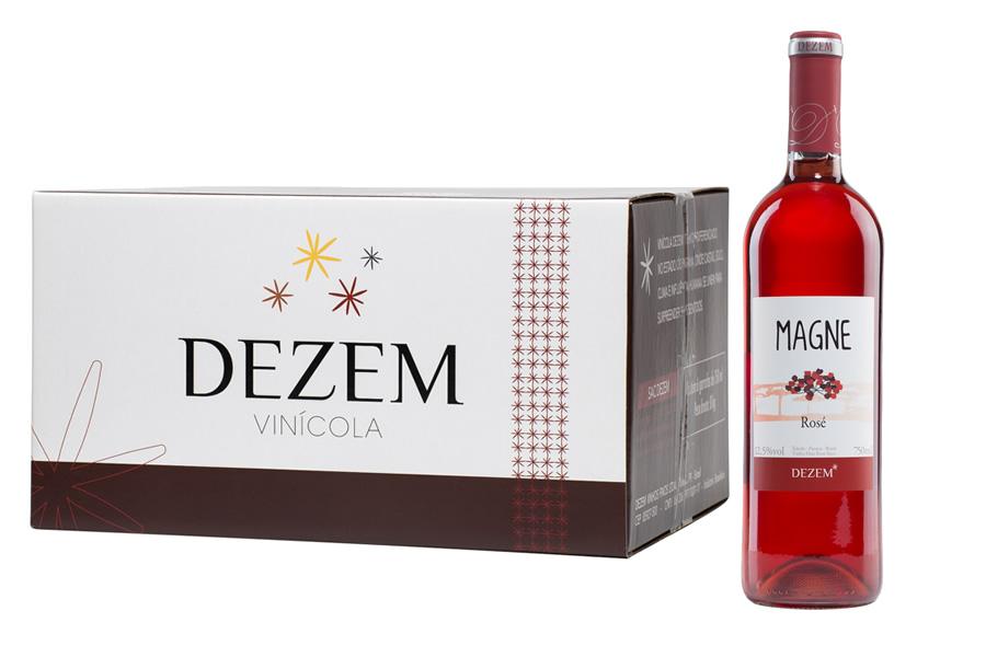 Magne Rose - 750ml - Caixa c/6 unid  - Vinicola Dezem