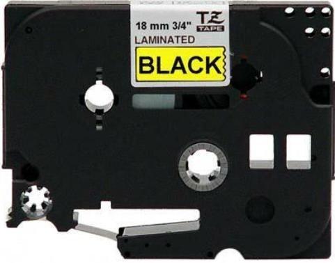 Fita Rotulador Brother TZE-641 18mm Preto/Amarelo