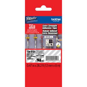 Fita Rotulador Brother TZES-131 12mm Preto/Transparente Extra Forte