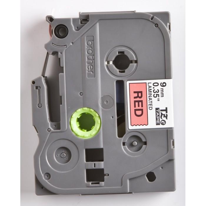Fita Rotulador Brother TZE-421 9mm Preto/Vermelho