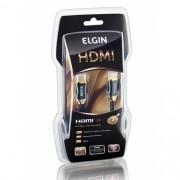 Cabo HDMI 1.4 Premium Elgin 4K 3D Conector Banhado a Ouro 2M