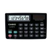 Calculadora de Bolso Casio Preta 8 Digitos Sol/Bateria SL-787TV-BK