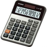 Calculadora Prática de Mesa Casio MX-120B Prata 12 Dígitos  Solar