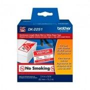 Etiqueta Bicolor Brother DK-2251 Preto/Vermelho Sobre Branco
