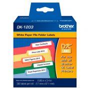Etiqueta Brother DK-1203 Pré-Cortada 17x87mm