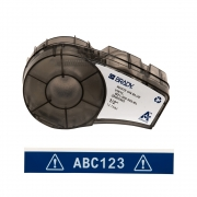 Fita Brady 12mm Vinil Branco/Azul M21-500-595-BL BMP21