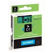 Fita Dymo D1 45019 Poliéster 12mm Preto/Verde