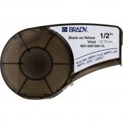 Fita Brady 12mm Vinil Preto/Amarelo M21-500-595-YL BMP21