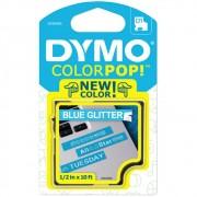 Fita Dymo D1 ColorPop 12mm Azul com Glitter