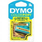 Fita Dymo D1 ColorPop 12mm Dourado com Glitter