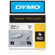 Fita Dymo Termo Retrátil 19mm Preto/Branco Rhino 18057