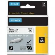 Fita Dymo Termo Retrátil Preto/Branco 9mm 18053 Rhino