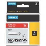 Fita Dymo Vinil 19mm Branco/Vermelho Rhino 1805422