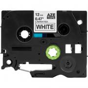 Fita Para Rotulador AZe-231 12mm Preto/Branco