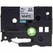 Fita Para Rotulador AZe-241 18mm Preto/Branco