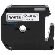 Fita Para Rotulador M-K231 12mm Preto/Branco