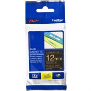 Fita Rotulador Brother TZE-334 12mm Dourado/Preto